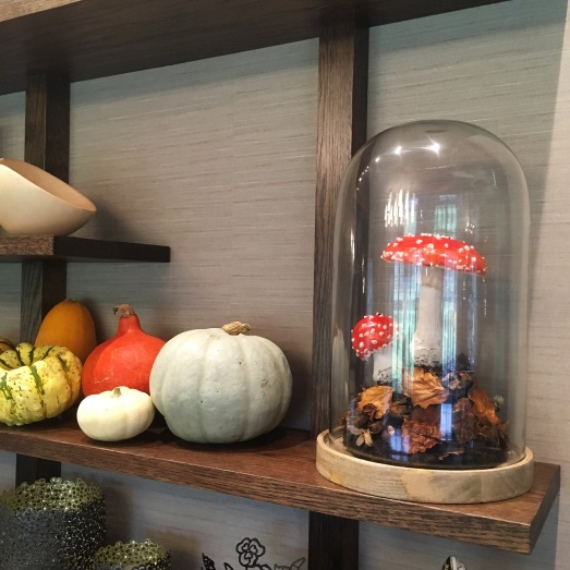 Wax fly agaric model at Paris House Restaurant