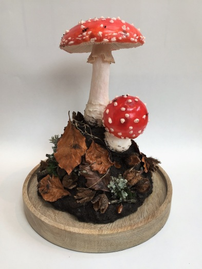 Wax fly agaric model