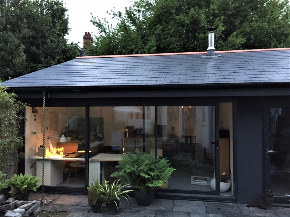 A new space to work – welcome to my garden artstudio!